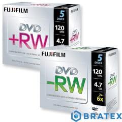 Płyta DVD-RW 4,7 GB JEWEL 6X FUJIFILM