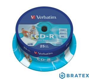 Verbatim CD-R 52x 700MB 25P CB Printable