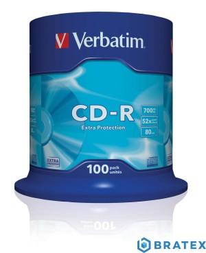 Płyty verbatim CD-R 52x 700MB 100P CB DL cake