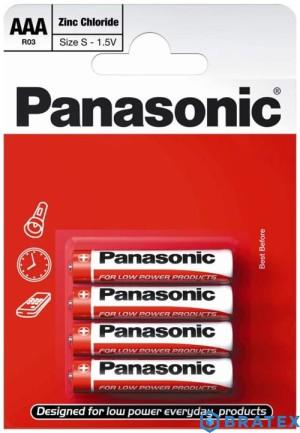 bateria cynkowo-węglowa Panasonic R03 AAA (blister)