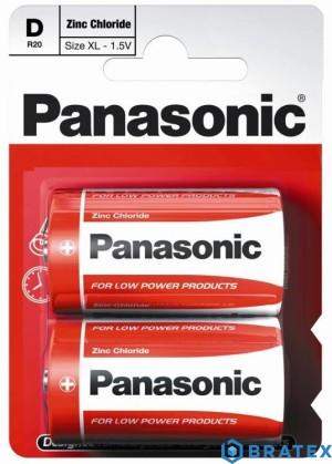 Bateria Panasonic R20 (D) cynkowo-węglowa blister B2