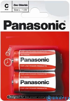 2xBateria Panasonic R14 (C) cynkowo-węglowa blister
