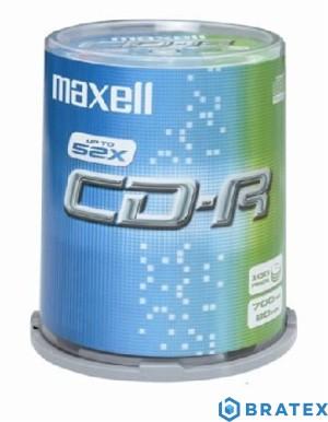Maxell plyta cd-r 700MB 52x cake 100
