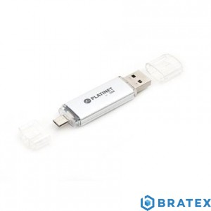 PLATINET ANDROID PENDRIVE USB 2.0 AX-Depo 16GB + microUSB for tablets  SILVER