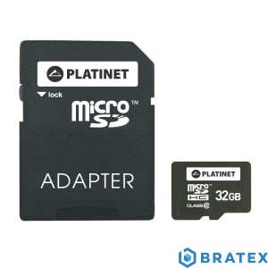 PLATINET microSDHC SECURE DIGITAL + ADAPTER SD 32GB class10