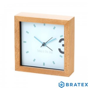 PLATINET ZEGAR/ALARM CLOCK WOODEN APRIL