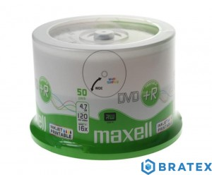 Maxell plyta DVD PLUS R 4,7GB  16x cake 50  Printable