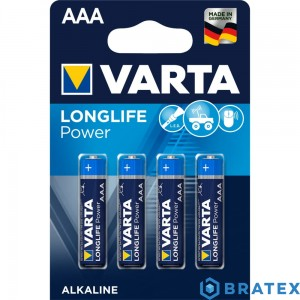 4 x Varta Longlife Power LR03/AAA  blister
