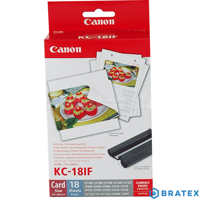 Canon DSC INK/LABEL KC-18IF do Selphy