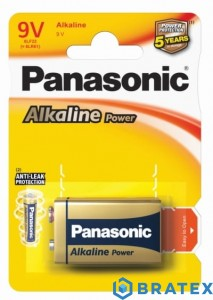 1 x Panasonic Alkaline Power 6LR61 / 9V (blister)