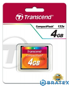 Transcend Compact Flash Card 4GB (133X)