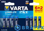 8 x Varta Longlife Power LR03/AAA  (High Energy)