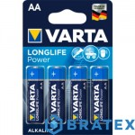 4 x Varta LONG LIFE POWER LR6/AA  (blister)
