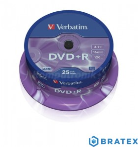 DVD PLUS R verbatim  4.7GB 16x cake 25 szt