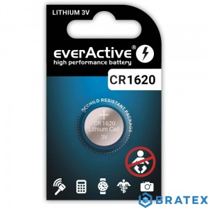 1 x bateria litowa mini everActive CR1620