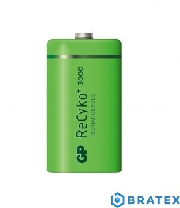 1x GP Recyko+ New R14/C 3000mAh  1,2V NiMH Ready2Use LUZ