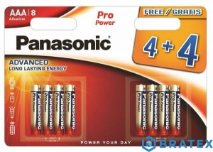 8 x Panasonic Alkaline PRO Power LR03/AAA (blister)