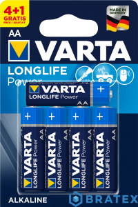 5 x Varta LONGLIFE POWER LR6/AA (blister)