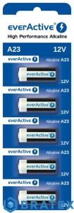 5 x baterie alkaliczne everActive A23 12V