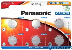 6 X PANASONIC CR2025 - BLISTER