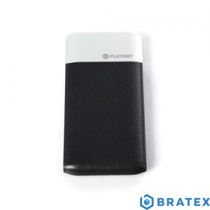 PLATINET POWER BANK LEATHER 5000mAh 2A polymer BLACK